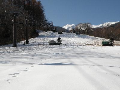 スキー場準備